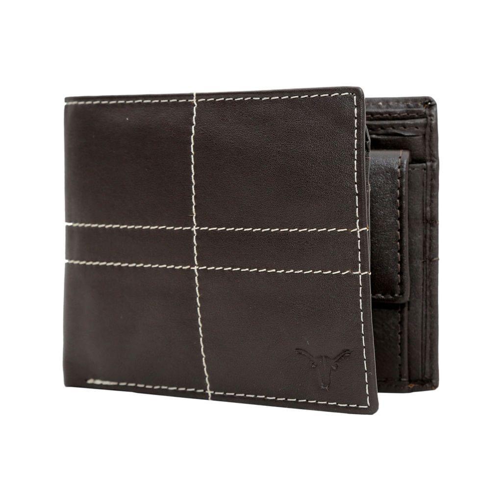 Hidekraft Leather Wallets For Men , WLBRDU1704 Brown