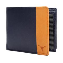 Hidekraft Men's's Leather Wallet,WLNVDU1015G Navy