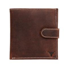 Hidekraft Men's Vintage Leather Wallet,NBTNPU0100 Tan