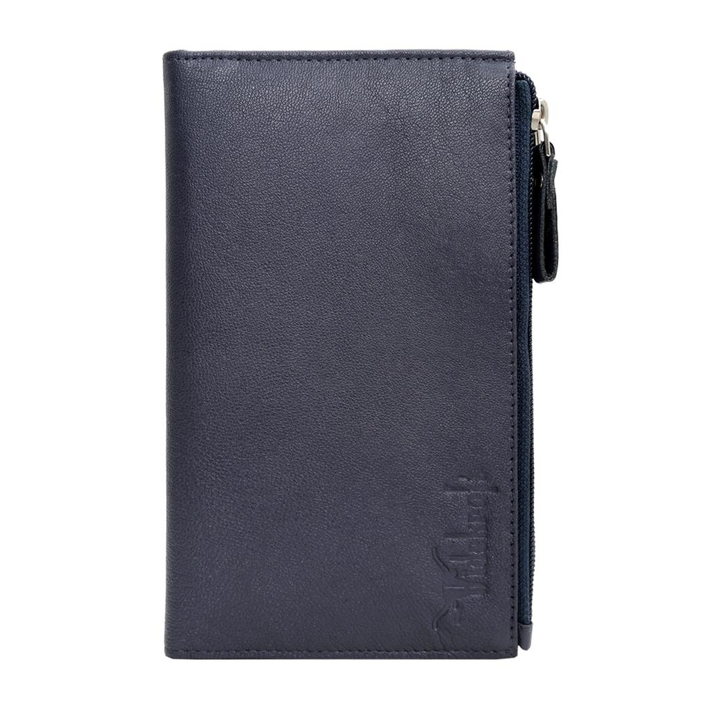 Hidekraft Genuine Leather  Travel Wallet, WLNVPP2002 Navy