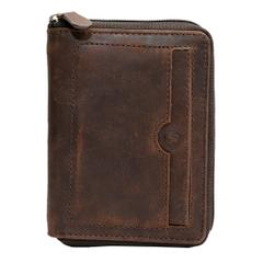 Hidegear Men's Vintage Leather Wallet, NBBRPU2022H Brown