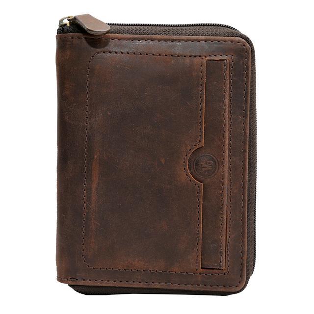 Hidegear Men's Vintage Leather Wallet, NBBRPU2022H Brown