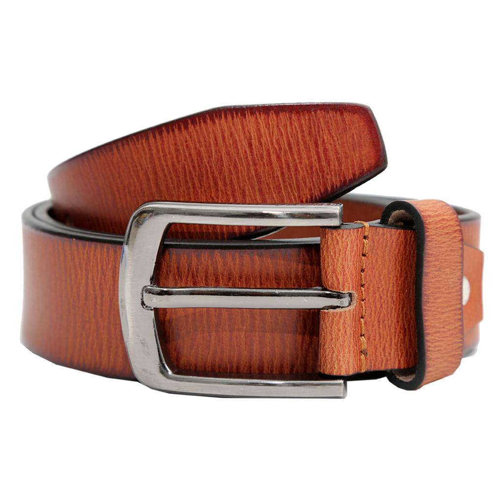 Hidekraft Genuine Leather Mens Casual Belt, BTCATN0100 Tan