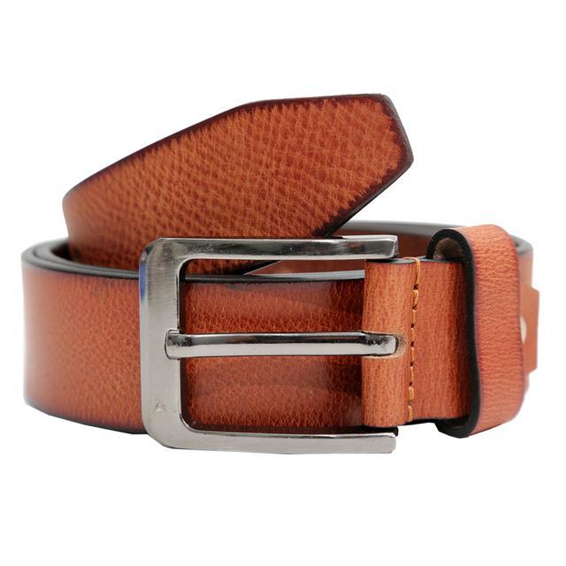 Hidekraft Genuine Leather Mens Casual Belt, BTCATN0101 Tan