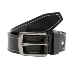 Hidekraft Genuine Leather Mens Casual Belt, BTCABL0102 Black