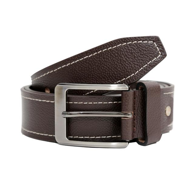 Hidekraft Genuine Leather Mens Casual Belt, BTCABR0102 Brown