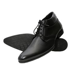 Hidekraft Genuine Leather Mens Formal Shoes,HKMSBL1016 Black