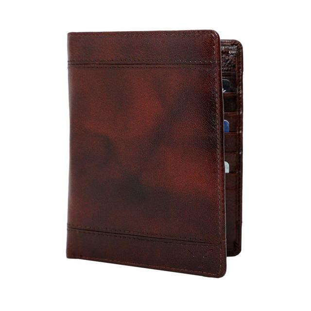 Hidekraft Genuine Leather Travel Wallet/Passport Holder , WLBBPP1375 Brown