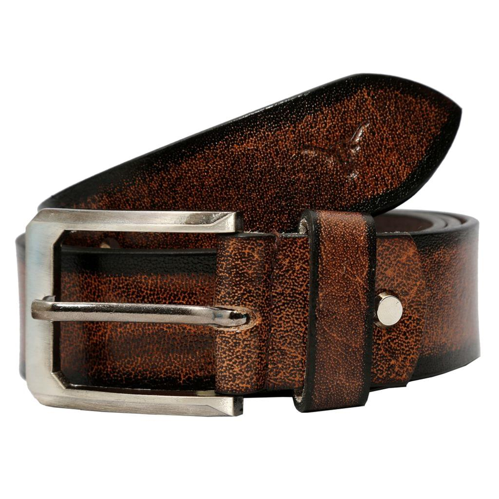 Hidekraft Genuine Leather Casual Belts For Men, BTCACO0114 Brown