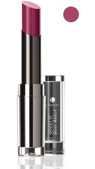 Lakme Absolute Gloss Addict Lip Color Perfect Plum 4 ml