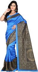 E-Vastram Printed Bollywood Art Silk Sari(Pink)