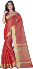 E-Vastram Printed Bollywood Art Silk Sari(Yellow)
