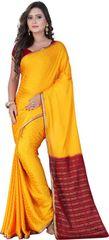 E-Vastram Printed Bollywood Art Silk Sari(Grey)