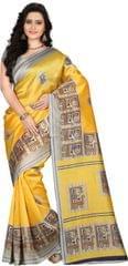 E-Vastram Woven Fashion Art Silk Sari(Green)