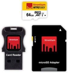 Strontium Nitro 64 GB SDHC Class 10  Memory Card(With Adapter)