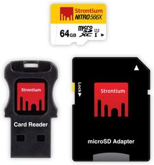 Strontium Nitro 64 GB SDHC Class 10Memory Card(With Adapter)