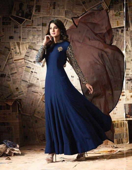 Charming Georgette Blue Color Anarkali SuitSASUNDAY-1286