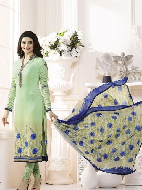Stylish Designer Green Color Straight SuitVFSRC9-5377
