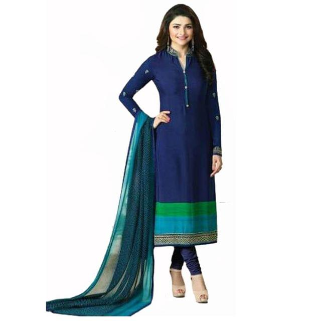Good Looking Navy Blue Designer Straight  Salwar SuitVFSRC9-5379