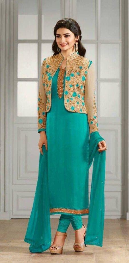 Fabulous Sky Blue Color Embroidered Anarkali Salwar Suit