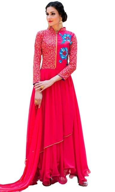Ethnic Style Stylish Designer Red color Suit