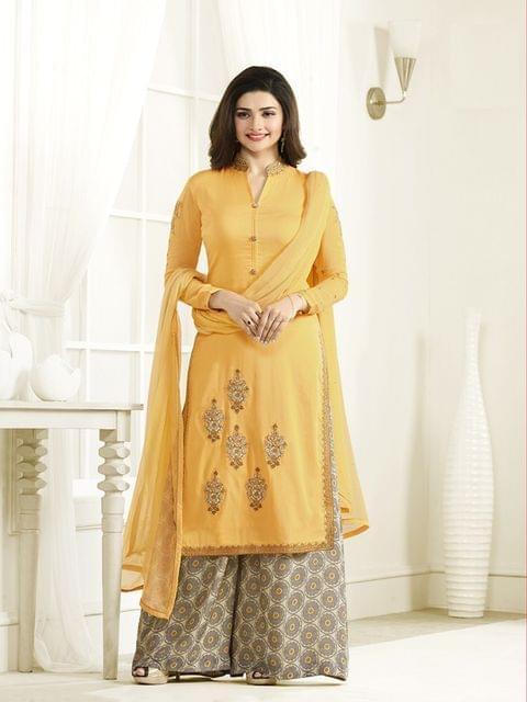 Stylish Designer Yellow Color Designer Suit