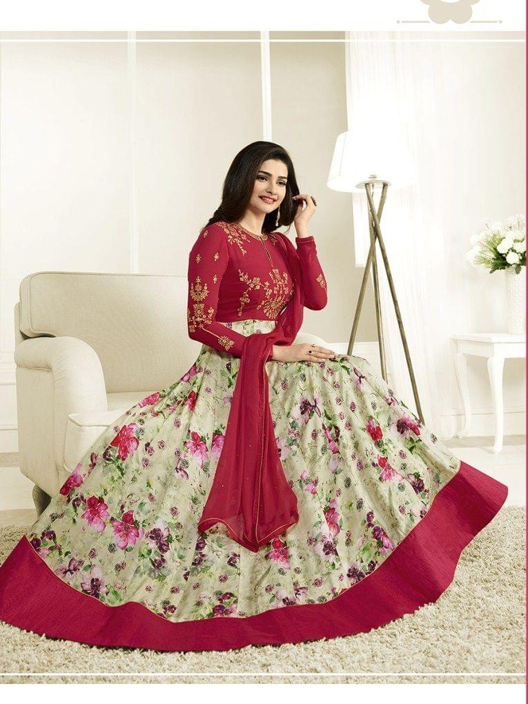 Stylish Designer Red Color Designer Suit