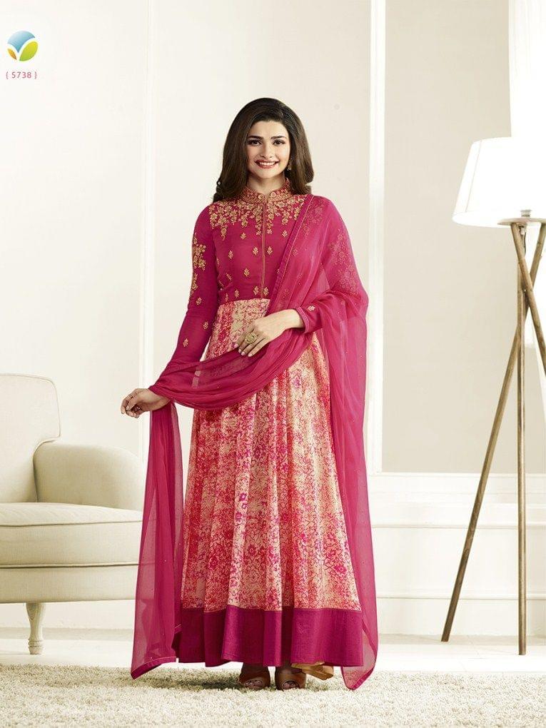 Stylish Designer Pink Color Designer Suit