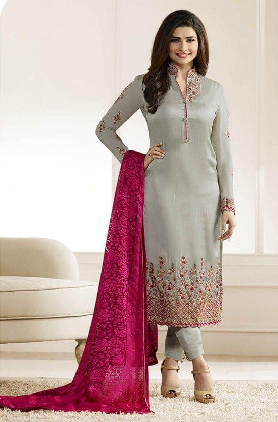 Stylish Designer Grey Color Designer Suit