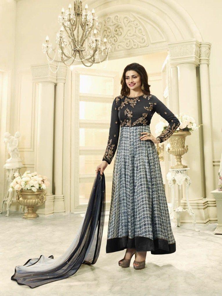 Good Looking Black Desinger Straight Salwar Suit