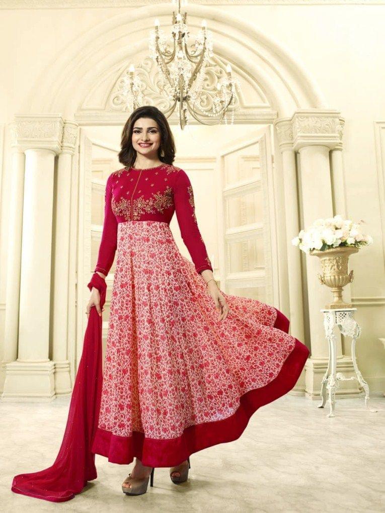 Good Looking Red Desinger Straight Salwar Suit