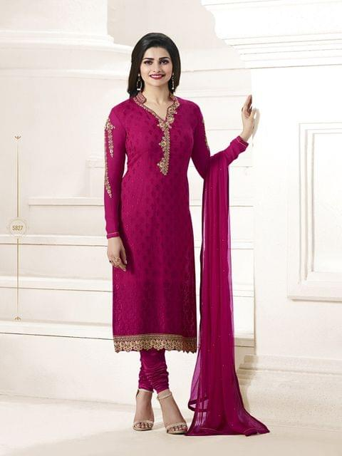 Good Looking Red Desinger Straight Salwar Suit