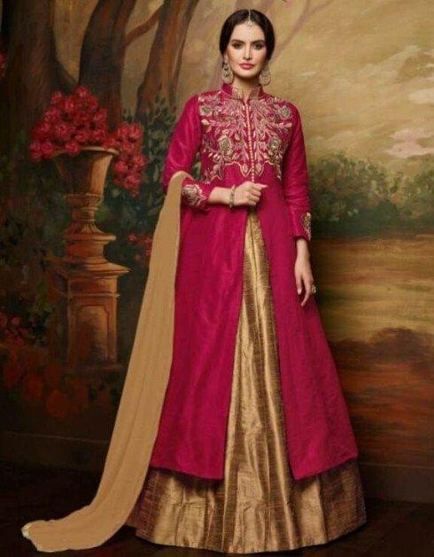 Pink & Beige Color Lovely Indo Western Suit