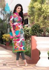Multi Color Cotton Printed Kurti