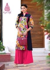 Multi Color Cotton Printed Kurti rmgmul-316