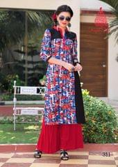 Multi Color Cotton Printed Kurti rmgmul-311