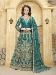 Shyn Blue Color Heavy Designer Semi Stitched Suit 22891