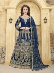 Blue Color Heavy Designer Semi Stitched Suit 22892
