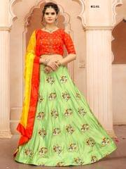 Light Green Paper Silk Lehenga Choli BCL-01