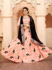 Peach Color Soft Tifi Silk Lehenga Choli BCL-02