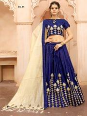 Blue Color Soft Tifi Silk Lehenga Choli  BCL-03