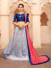 Grey Color Soft Tifi Silk Lehenga Choli BCL-04