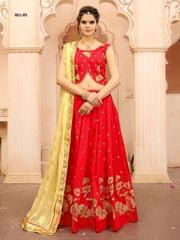 Red Color Soft Tifi Silk Lehenga Choli BCL-05