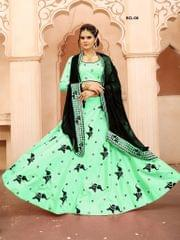 Light Green Color Soft Tifi Silk Lehenga Choli  BCL-06