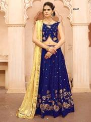 Blue Color Soft Tifi Silk Lehenga Choli  BCL-07