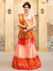 Peach Color Soft Tifi Silk Lehenga Choli BCL-08