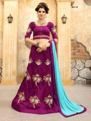 Purple Color Soft Tifi Silk Lehenga Choli BCL-11