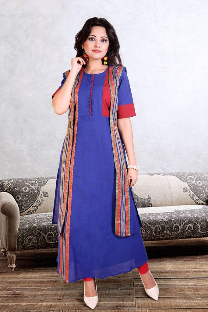 Royal Blue Color Designer Readymade Kurti 24742