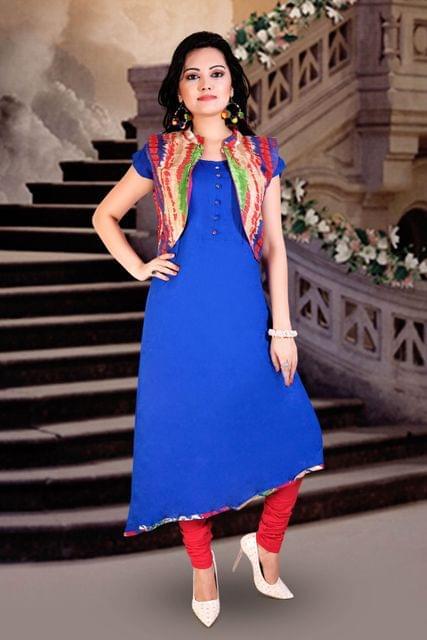 Royal Blue Color Designer Readymade Kurti 24744