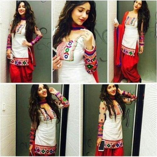Patiala White&Red Salwar Suit